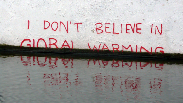 I don't believe in global warming flood