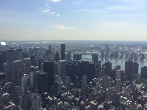 The iconic view from the Empire State Building's observation deck.