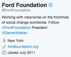 Ford Foundation Bio