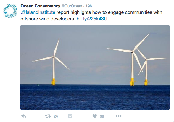 Ocean Convervancy Wind Tweet