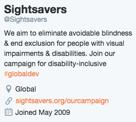 Sightsavers Bio