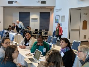2019 Grassroots Convening participants practice Tweeting for #2020