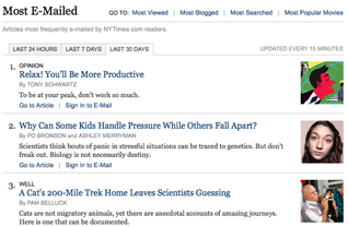 NYT most emailed