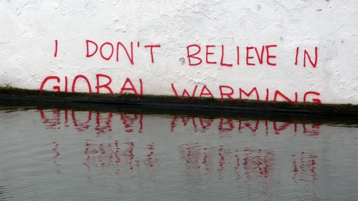 I don't believe in global warming flood