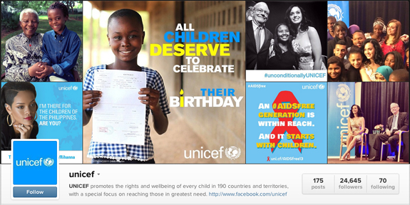 unicef-instagram-page