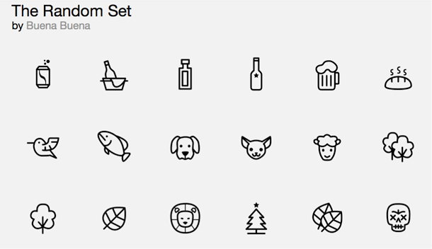 Handy for making visuals with matching icons.