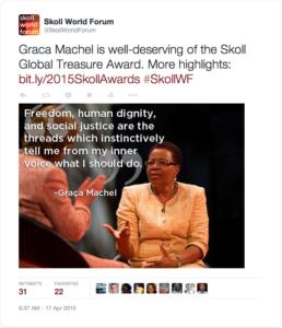 graca machel global treasure highlights quote tweet
