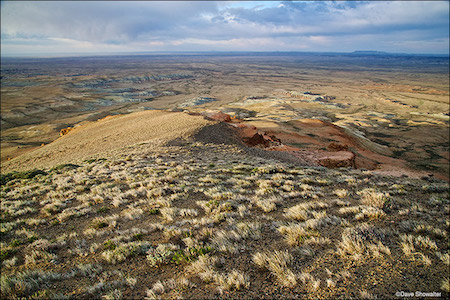 Northern Red Desert Expanse From Continental Peak Summit. Honeycomb Buttes Wilderness Study Area, WY