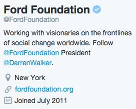 Ford Foundation Bio