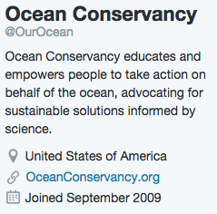 Ocean Conservancy Bio