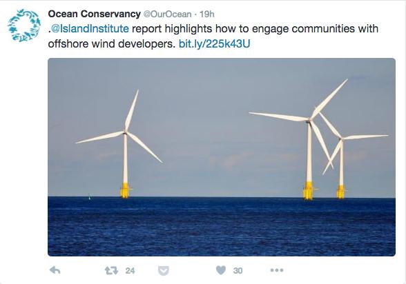 Ocean Convervancy Wind Tweet