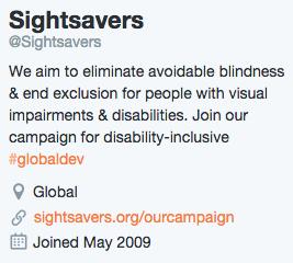 Sightsavers Bio