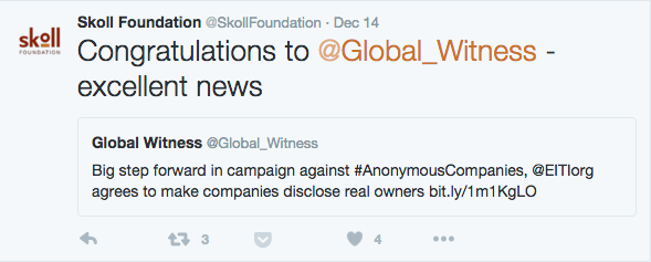 Skoll Foundation Tweet
