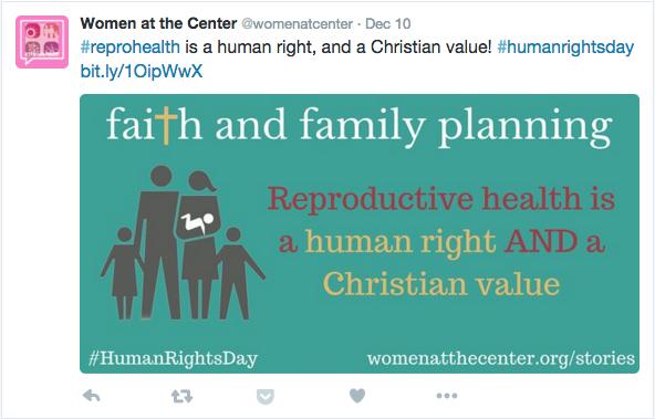 Women At the Center Tweet