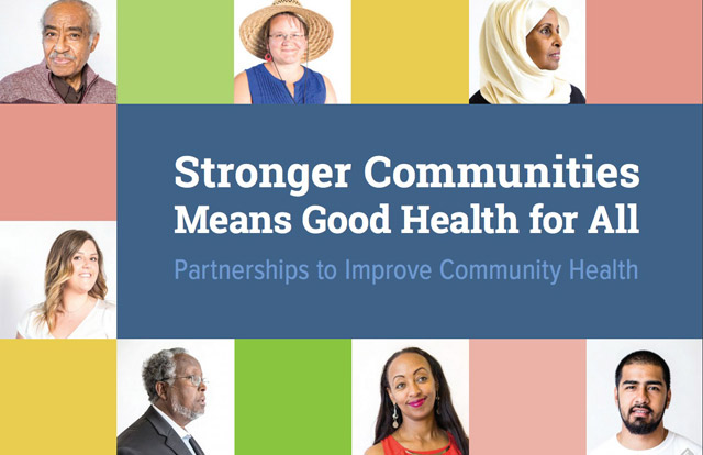 Stronger Communities Means Good Health for All infographic